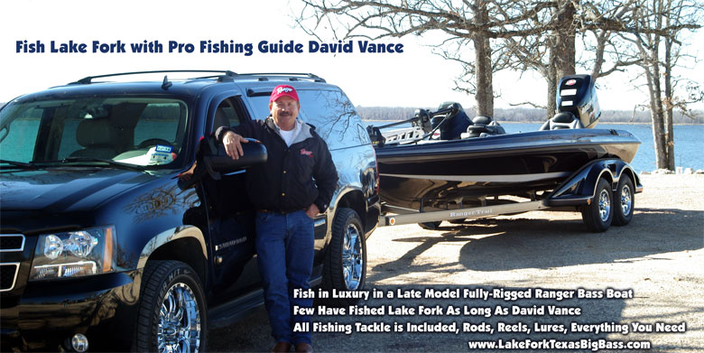 David Vance, Lake Fork Trophy Bass Fishing Guide